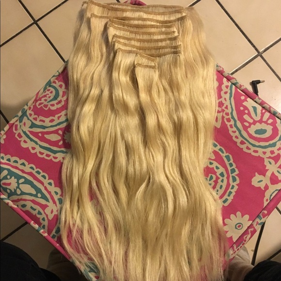 Accessories Platinum Blonde Human Hair Extensions Poshmark
